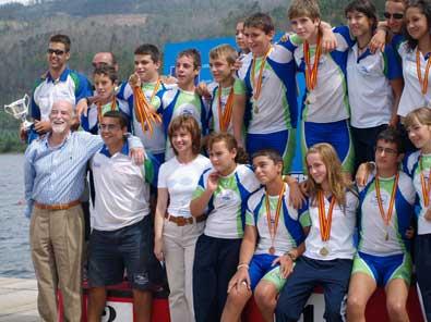 Escuela de Piragüismo Aranjuez, últimos campeones de la Liga