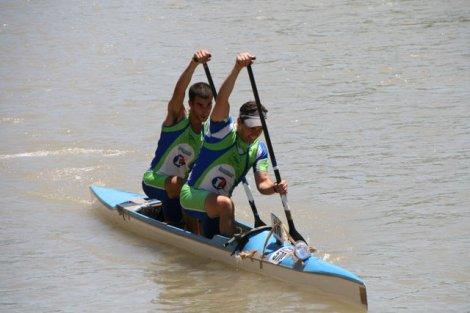 Serrano y Mora, vencedores en C-2. Foto: Piragüismo Aranjuez