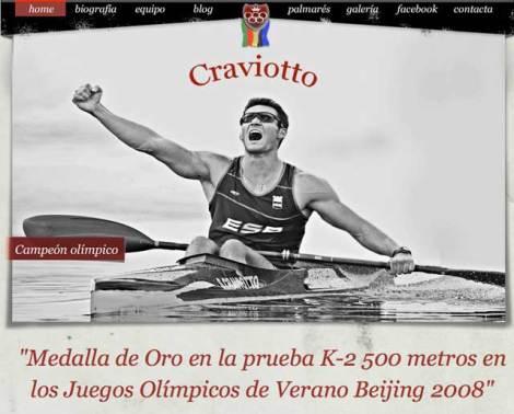 Nueva web de Saúl Craviotto