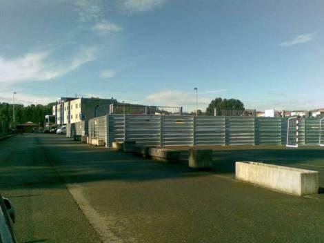 Ya han comenzado las obras en Trasona, sede de la concentración, foto: Dani Durán