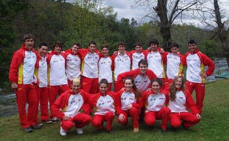 Selección junior de slalom, foto RFEP